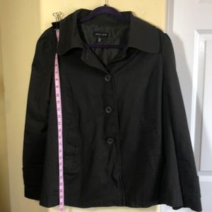 Clique L Dark Brown Cotton Jacket NWOT